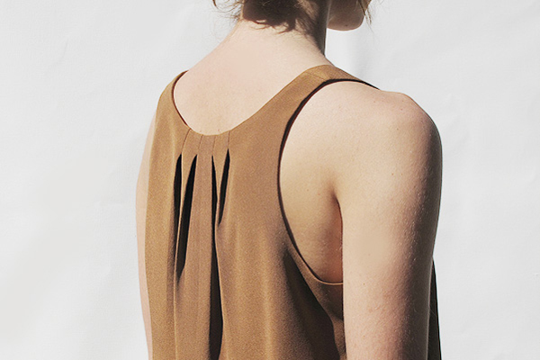 Apiece Apart - Rust colored silk tank top