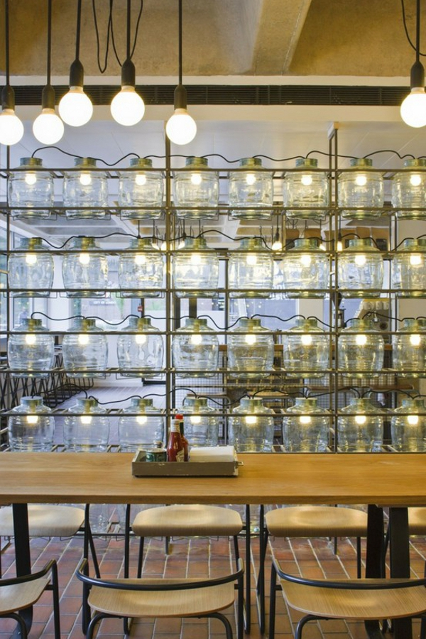 Barbican Foodhall and Lounge designed by SHH (lighting)