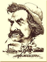 Caricature of Mark Twain