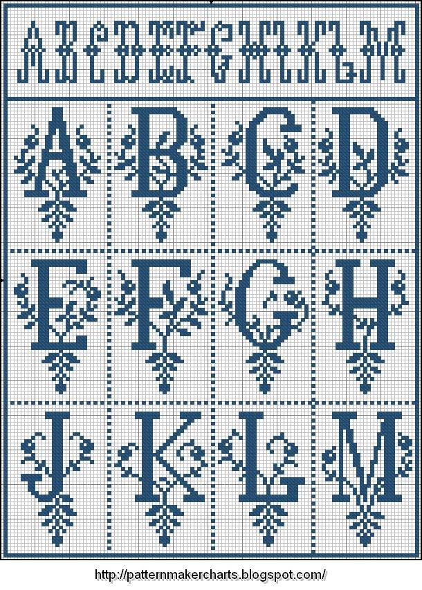 Красивый латинский алфавит много
