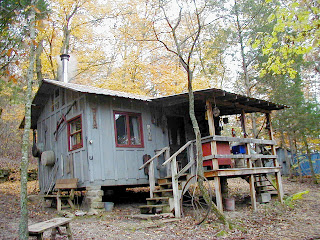 Blues men at line camp cabin in the woods rock eddy bluff farm - The wood cabin on the rocks ...