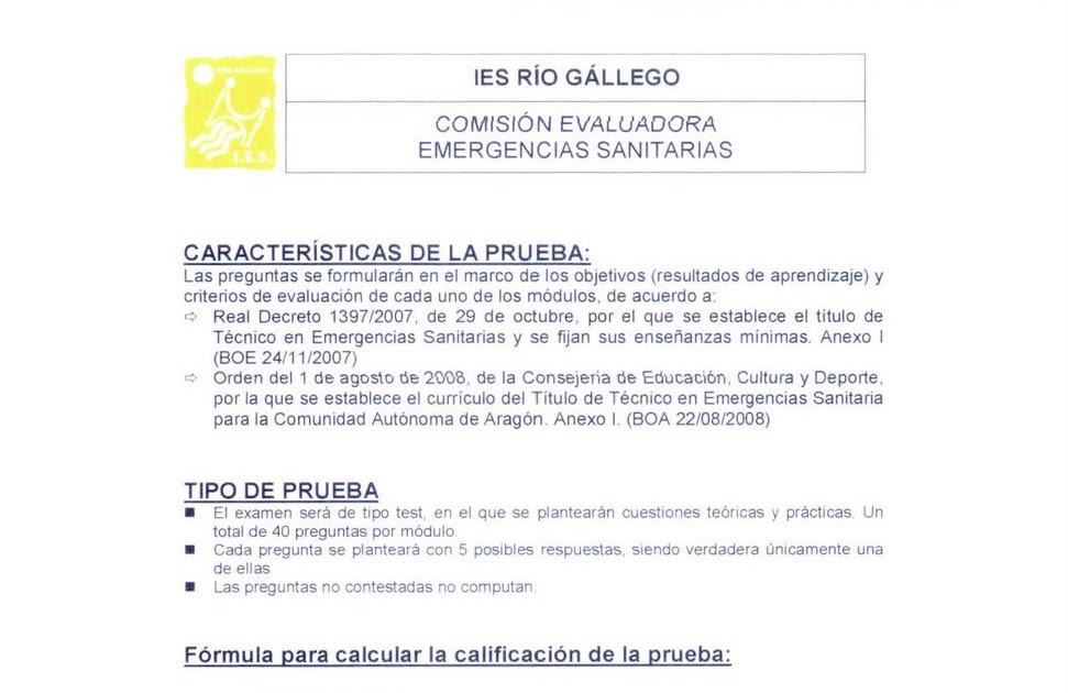AMBULANCIEROS: En Zaragoza se han realizado las pruebas de acceso ...