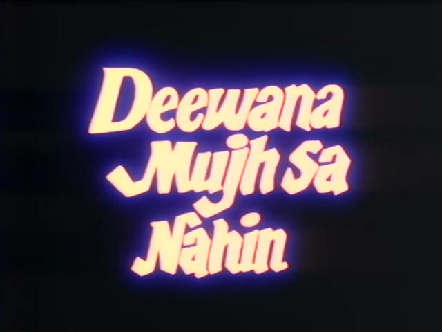 deewana mujh sa nahin 1cd dvdrip xvid 1990 rs ss muDeewana Mujh Sa Nahin