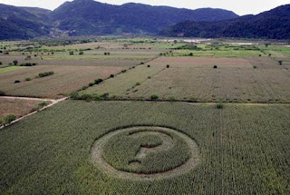 question mark crop circle