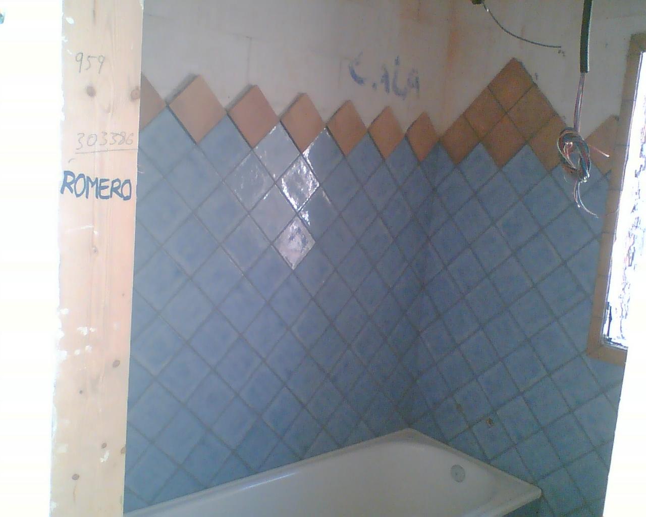 Azulejos Baño Rustico:AZULEJOS, ALICATADOS Y ALICATADORES: ALICATADO EN LA SIERRA ARACENA