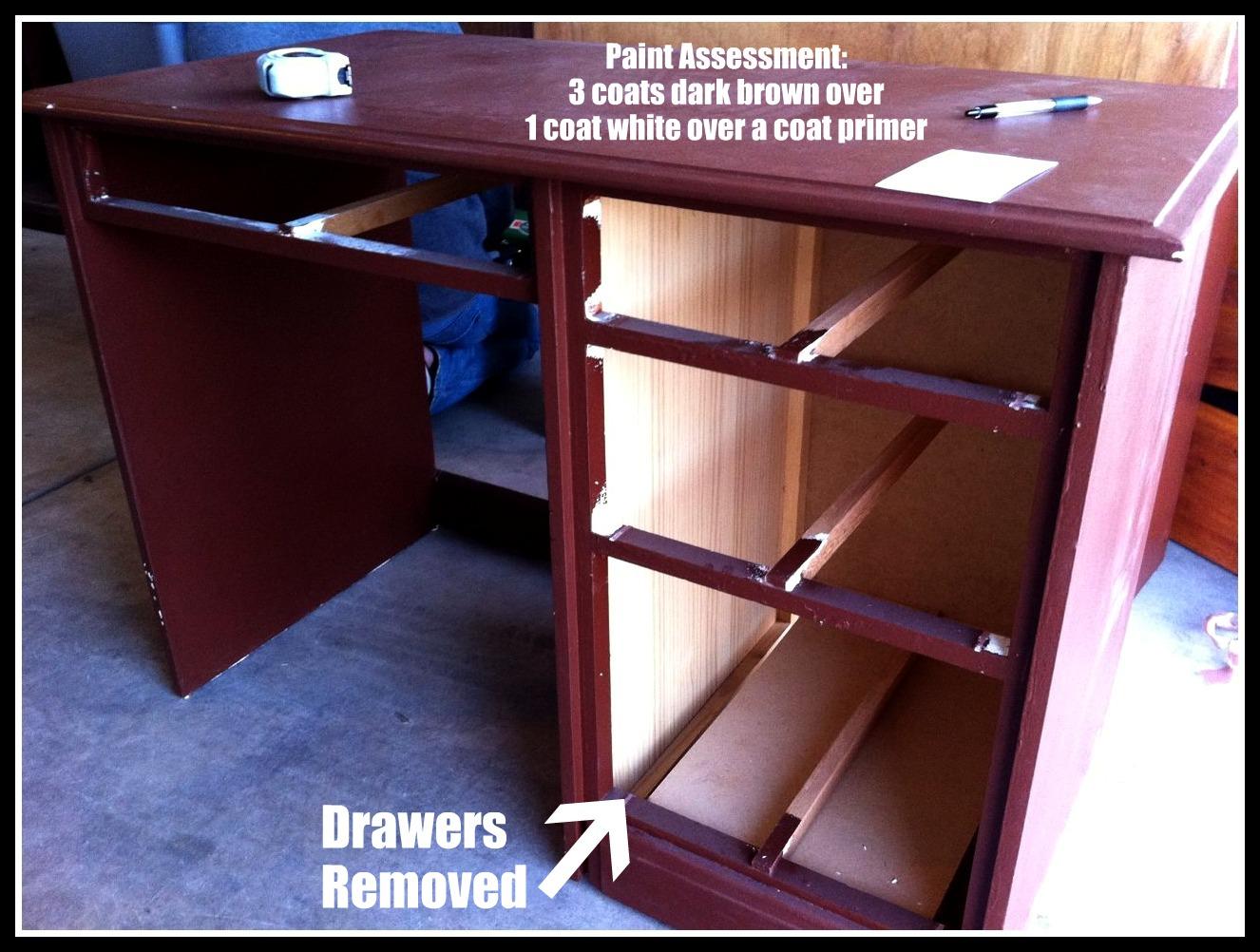 Repurposed Desk Desk repurposed to kitchen