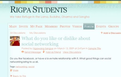 Here at Rigpa News we are well aware of the benefits of social networking. In the last couple of years Rigpa has experimented with Facebook, ...