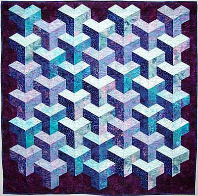 TUMBLING BLOCKS QUILT - Ludlow Quilt and Sew
