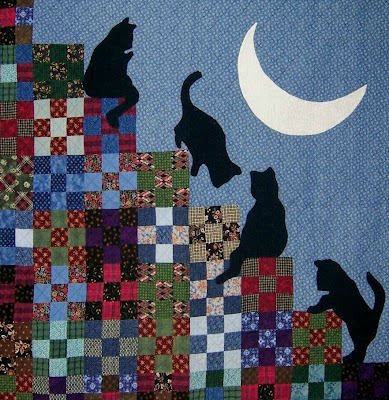 Quilt Inspiration: The Best of Cat Quilts! Part Three : tessellation cat quilt pattern - Adamdwight.com