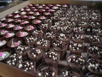 Copinhos de Chocolate ou acrílico