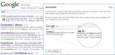Google SearchWiki