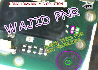nokia 1202 1661 mic ic problem solve