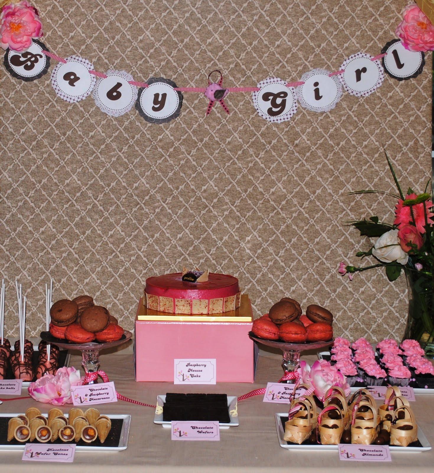 Festa: Real Festa. Pink and Brown Bird Baby Shower