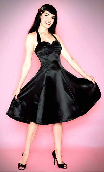 "Pin up dresses search results from Google The ""Sweetie"" Swing Dress in Black"