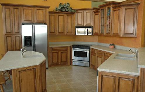 Glazed Birch Kitchen Cabinets