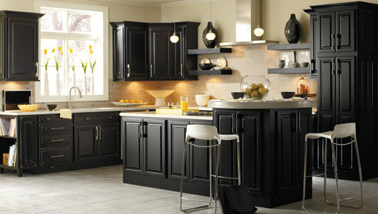 You can even paint your kitchen cabinet black
