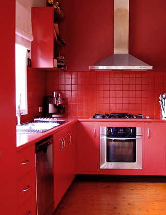 Cabinets for kitchen red kitchen cabinets - Cocinas rojas ...