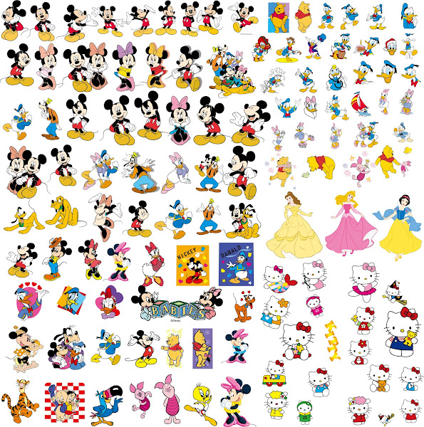 Disney Cartoon Characters Vector