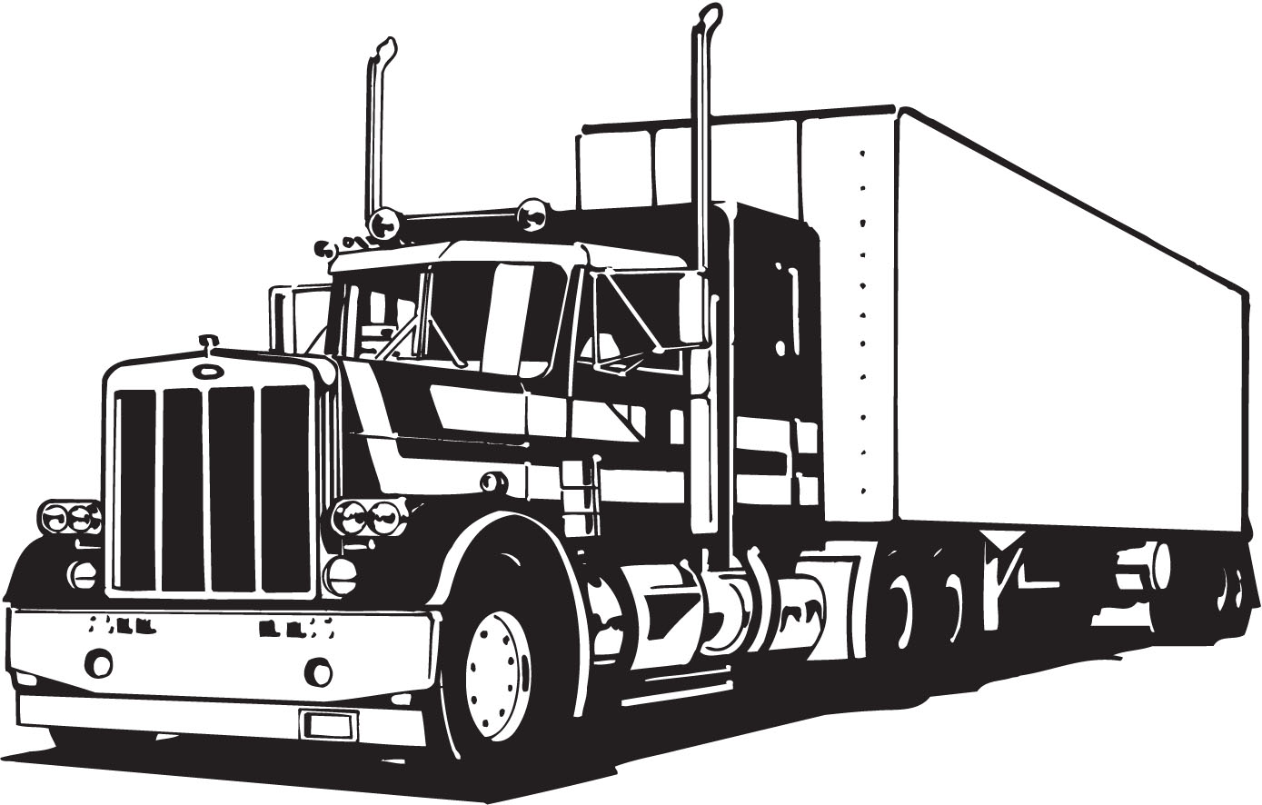 Line Art Truck : Vectorian art truck lineart vectorfree download free