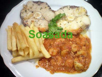 Pescado con salsa de gambas 100_0013