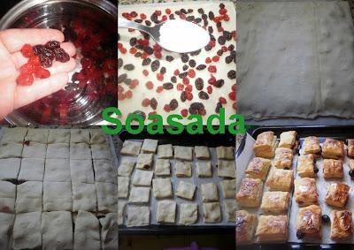 Bocaditos hojaldrados de pasas y cerezas Bocaditos+hojaldrados+de+pasas+y+cerezas