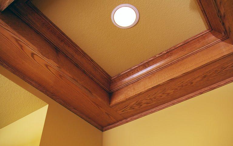 B L Whaley Custom Woodworking Coffered Ceiling Detail In Oak