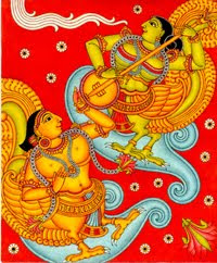 celestial moods of the devine lovers Kinnara and Kinnari , like the sruti and layam in music