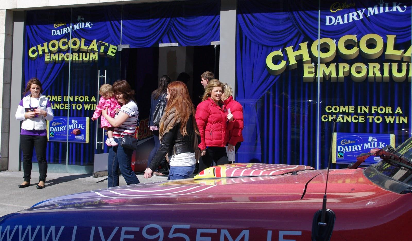Cadbury Chocolate Emporium Promotion live 95 fm Limerick