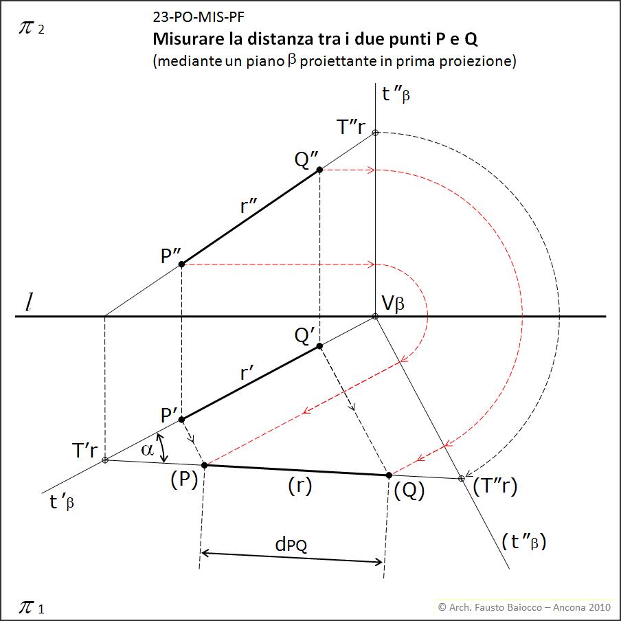 Descrittiva vltra proiezioni ortogonali misurare la for Piano di costruzione a due piani