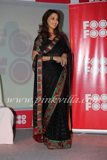 Madhuri Dixit sizzles in saree  at Food Food Launch