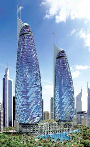 dubai towers dubai. Park Towers - Dubai, UAE