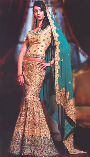 Raw Silk Sharara Pakistani Bridal Dress 2010
