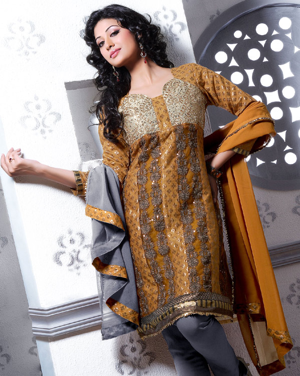 Party Wear 2011 Dresses, Party Wear Chudidaar Styles Indian Wear