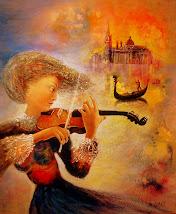 Violinista en Venezia