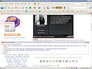 Utilisation de l'extension Aardvark pour Firefox - Affichage du code objet