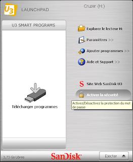 Clé USB U3 - Activation du mot de passe
