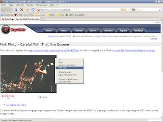 Firefox 3.6 beta 2 - Visualisation vidéo en plein écran