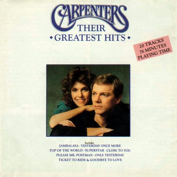 Carpenters/Their Greatest Hits (1990). Publicado por CATALOGO MUSICAL en 21: