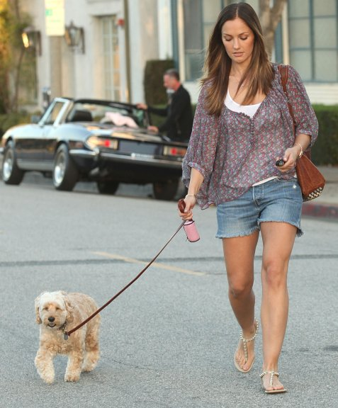 Minka kelly shows her puppy love in style wagging tongues and minka kelly shows her puppy love in style voltagebd Images