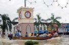 Menara jam yang ditenggelami banjir...