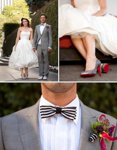 christian louboutin sparkly shoes wedding bowtie