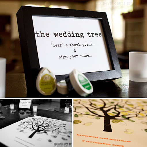 wedding guest book tree Thumb Tree Guestbook was put together by Bronwen 39s