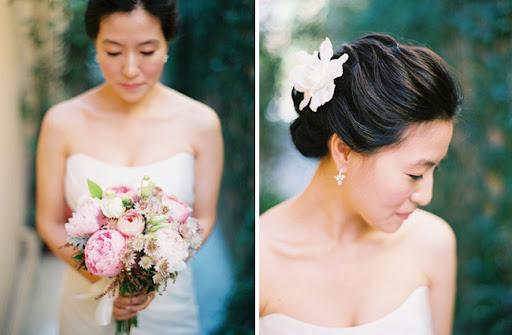 They were married at Tivoli Terrace in Laguna Beach CA pink wedding