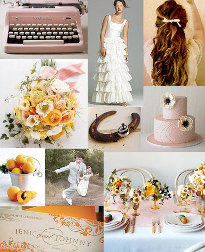 With a bit of vintage a pink typewriter some romantic elements a bucket