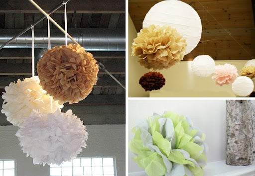 Anyone planning to make some for their wedding tissue pom poms wedding