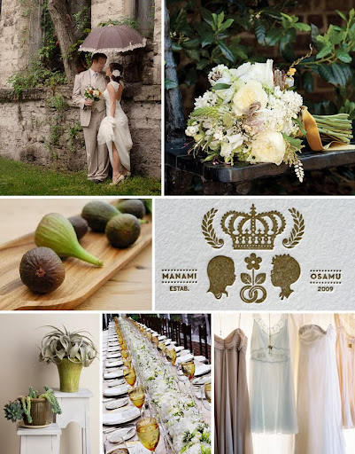 I love this color palette for a fall wedding inspired by a plate of figs