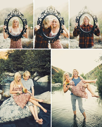 engagement photos riverside California with a frame