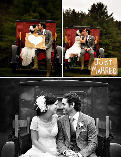 just married truck