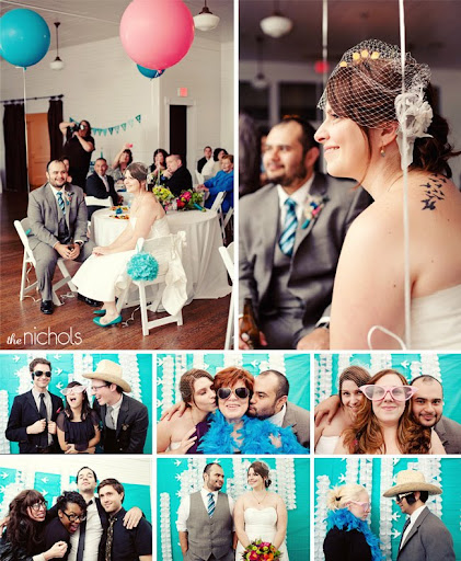 balloons and photobooth wedding