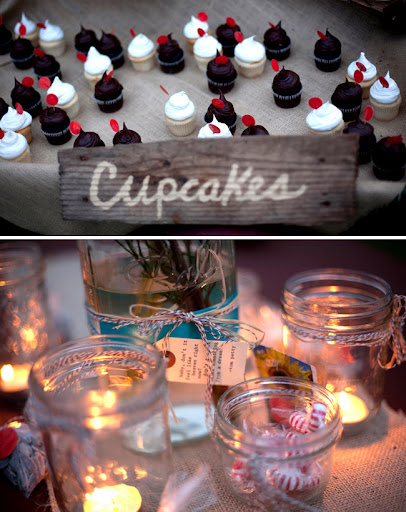 cupcakes and mason jars wedding